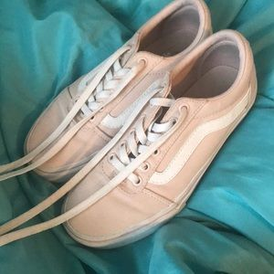 Light pink canvas vans